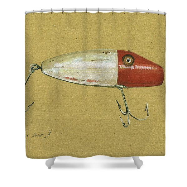 Antique Lure Bait Shower Curtain