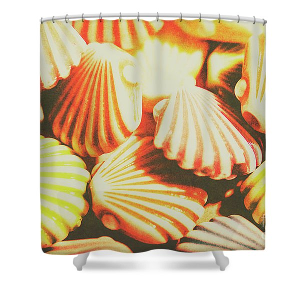 Antique Ocean Beads Shower Curtain