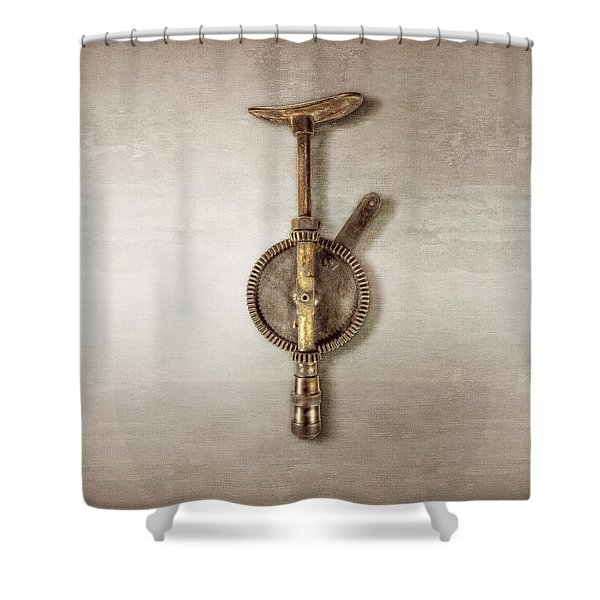 Antique Shoulder Drill Backside Shower Curtain