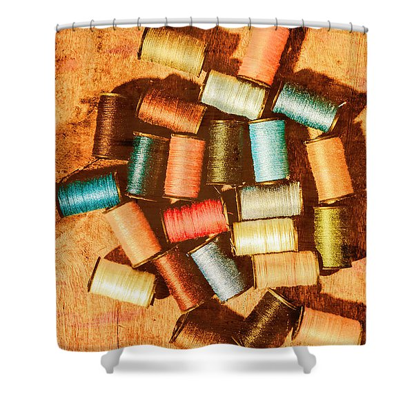 Antique Spools And Thread Shower Curtain