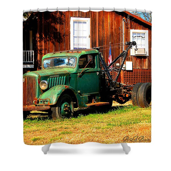 Antique Tow Truck Shower Curtain