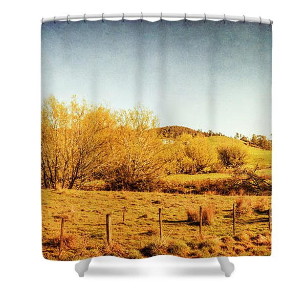 Antique Weathered Countryside Shower Curtain