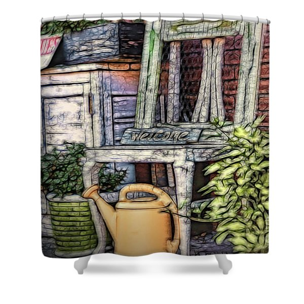 Antiques On The Front Porch Shower Curtain