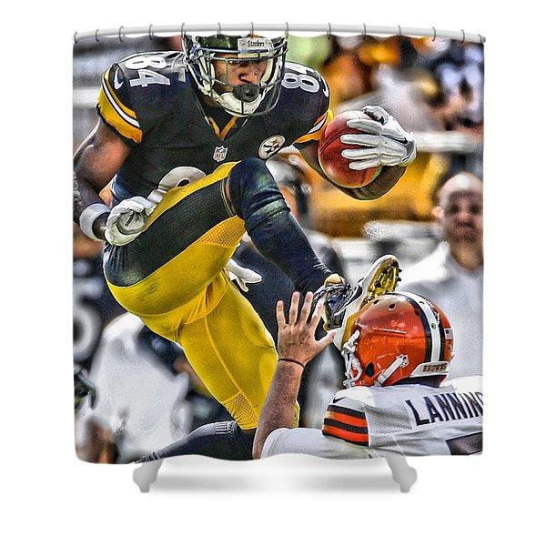 Antonio Brown Steelers Art 5 Shower Curtain