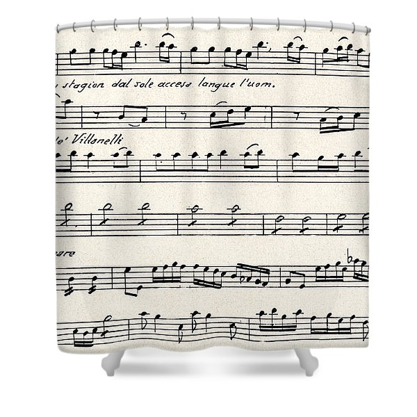 Antonio Vivaldi  The Four Seasons Shower Curtain