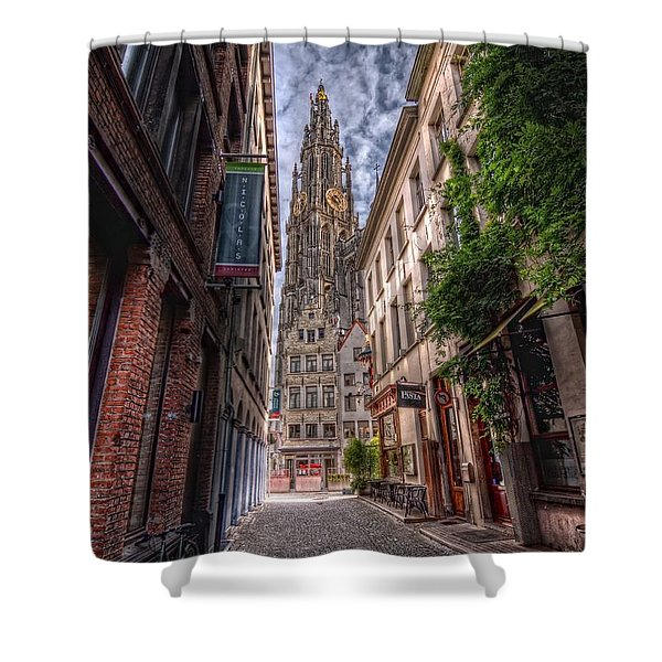 Antwerp Cathedral Shower Curtain