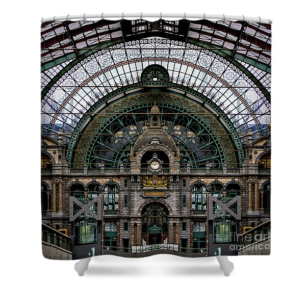 Antwerp Train Terminal Shower Curtain