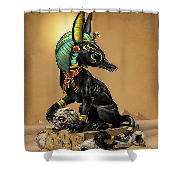 Anubis Egyptian God Shower Curtain
