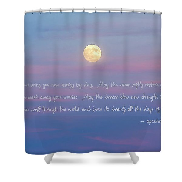Apache Blessing Harvest Moon 2016 Shower Curtain