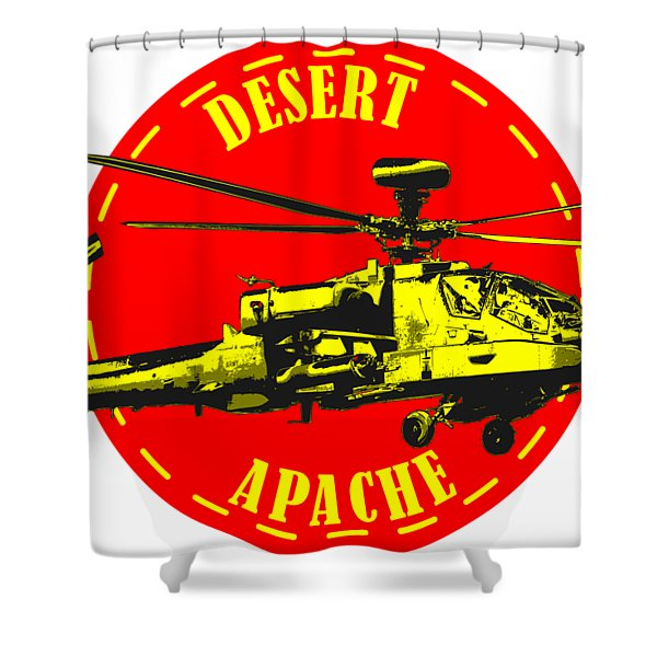 Apache On Desert Shower Curtain
