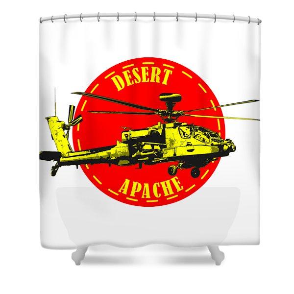 Apache On Desert Shower Curtain