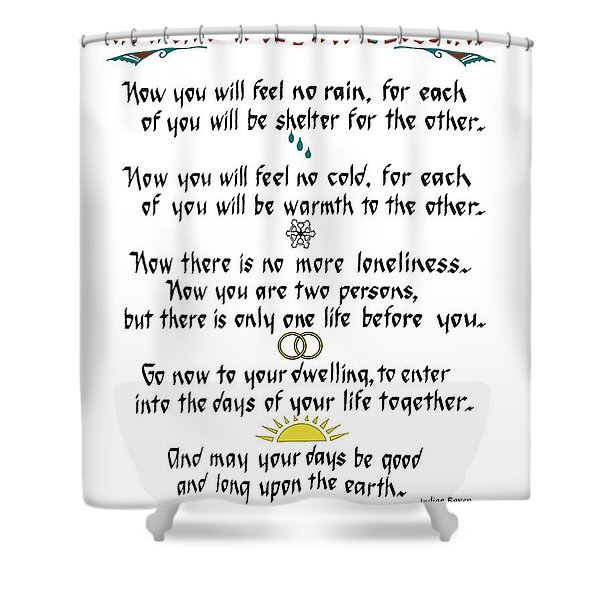 Apache Wedding Blessing Shower Curtain