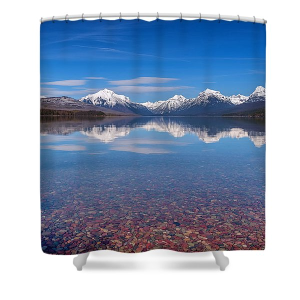 Apgar Beach Rocky Shore Shower Curtain