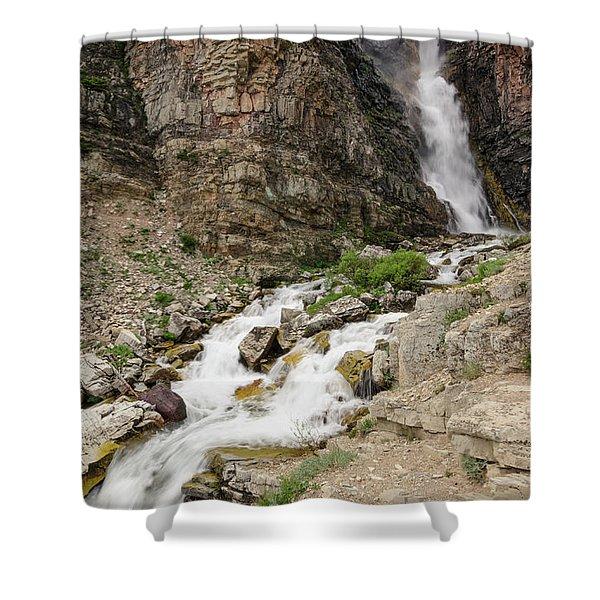 Apikuni Falls Shower Curtain