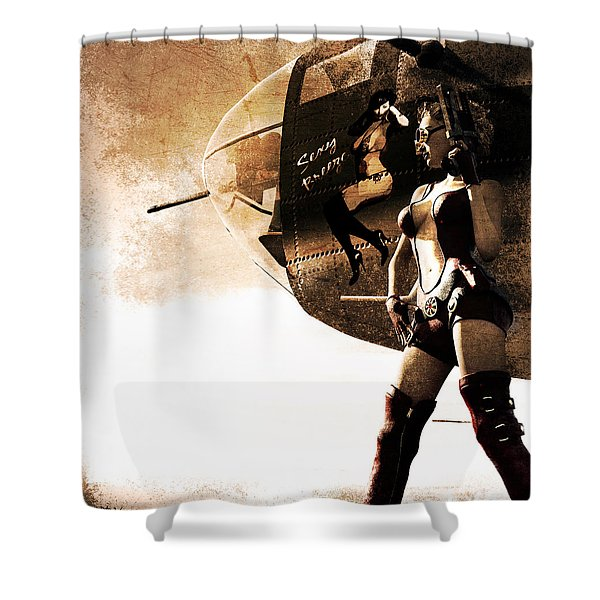 Apocalypse War 1 Shower Curtain