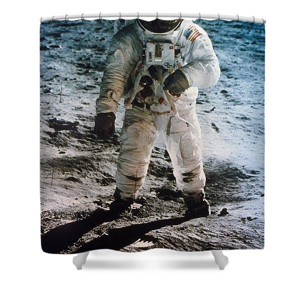 Apollo 11 Buzz Aldrin Shower Curtain