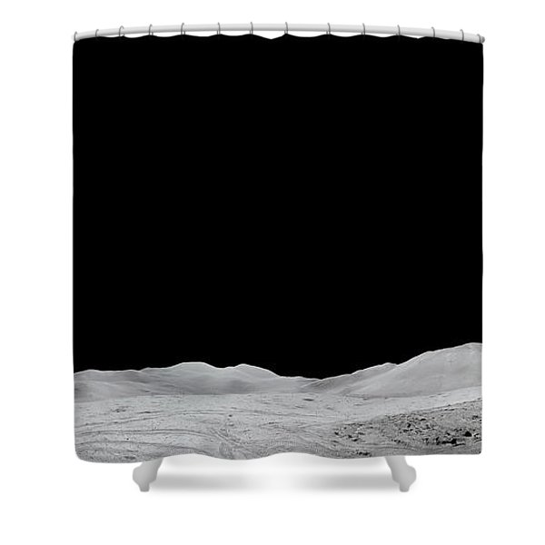 Apollo 15 Landing Site Panorama Shower Curtain