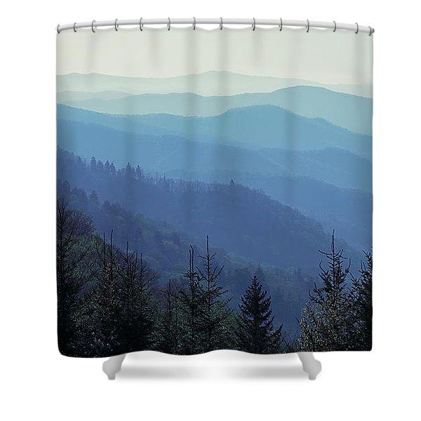 Appalachian Blue Shower Curtain