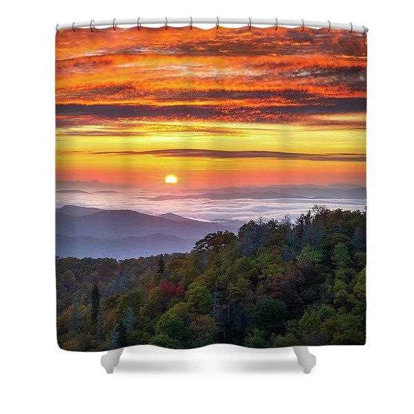 Appalachian Mountains Asheville North Carolina Blue Ridge Parkway Nc Scenic Landscape Shower Curtain