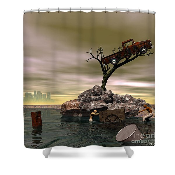 The Apparition Of The City Of Tears Shower Curtain