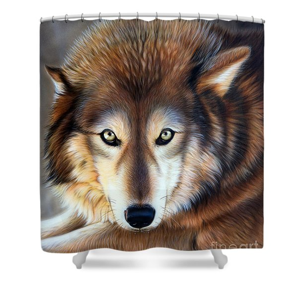 Shower Curtain featuring the painting Apparition by Sandi Baker