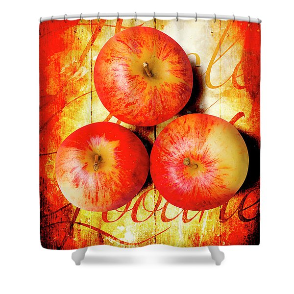 Apple Barn Artwork Shower Curtain