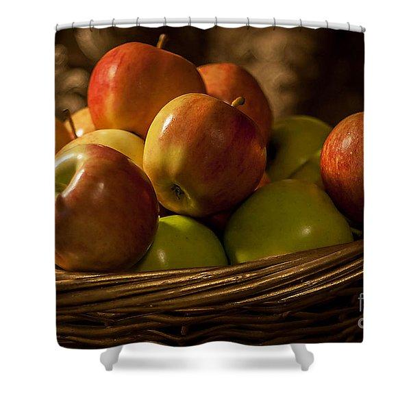 Apple Basket Shower Curtain