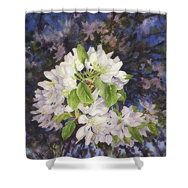 Apple Blossoms At Dusk Shower Curtain