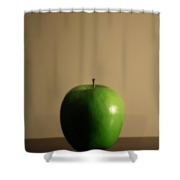 Shower Curtain featuring the photograph Apple by Break The Silhouette