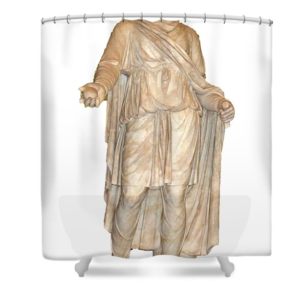Apple In Hand Shower Curtain