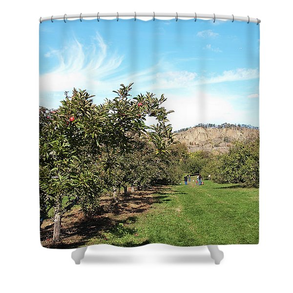 Apple Picking Shower Curtain