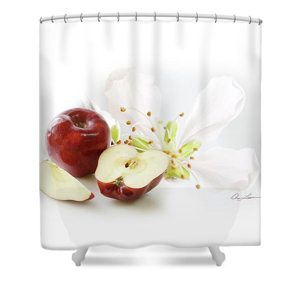 Apples And Blossom Shower Curtain
