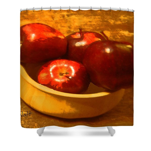 Apples In A Bowl Shower Curtain
