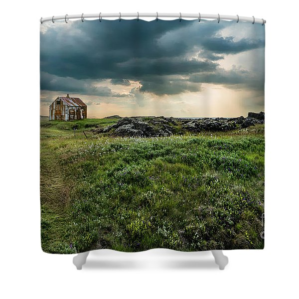 Approaching Forces Shower Curtain