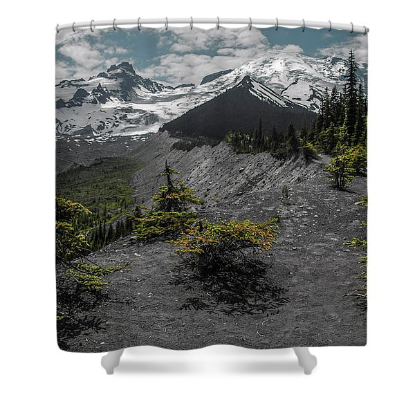 Approaching Rainer Shower Curtain