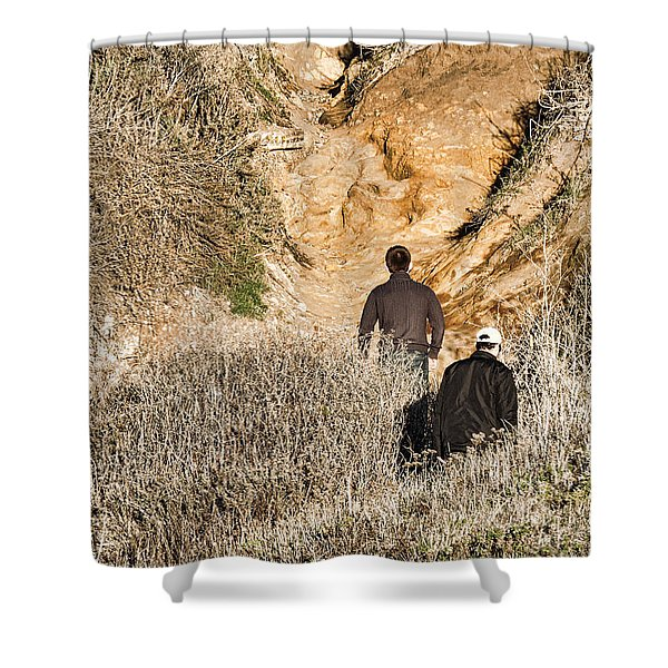 Approaching The Incline Shower Curtain