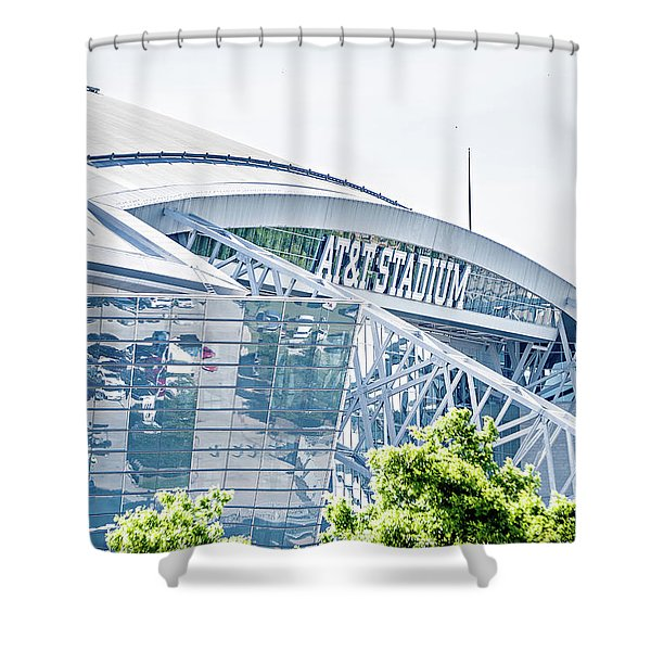 Shower Curtain featuring the photograph April 2017 Arlington Texas Att Nfl Cowboys Football Stadium  by Alex Grichenko