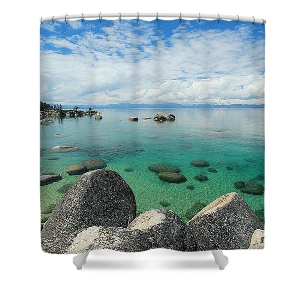Shower Curtain featuring the photograph Aqua Heaven by Sean Sarsfield
