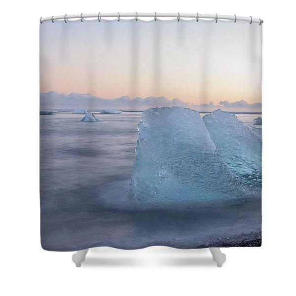 Aqua Ice Shower Curtain