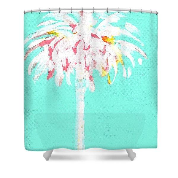 Aqua Marine Palm Shower Curtain