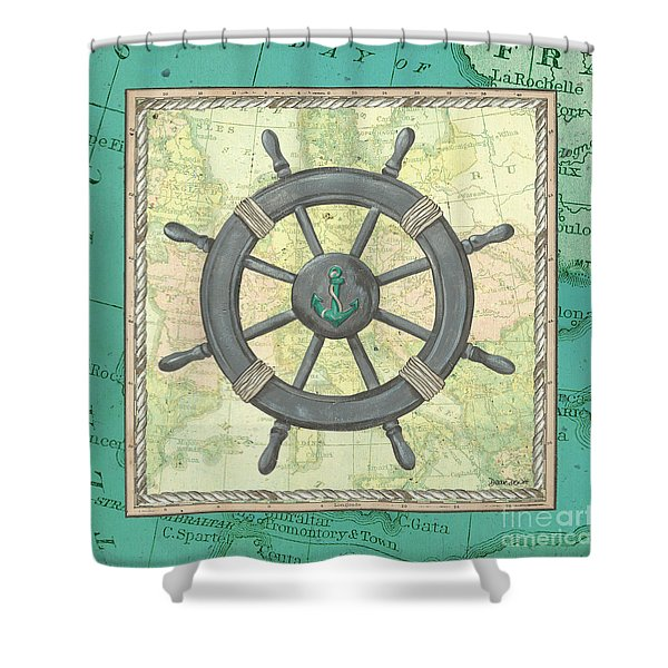 Aqua Maritime Shower Curtain