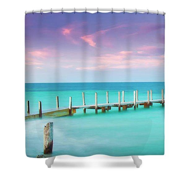 Aqua Waters  Shower Curtain
