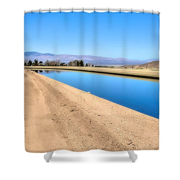 Aqueduct And The Tehachapi Mountains Shower Curtain