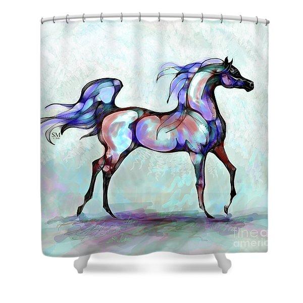 Arabian Horse Overlook Shower Curtain
