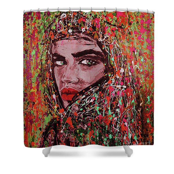Arabian Women Art  Shower Curtain