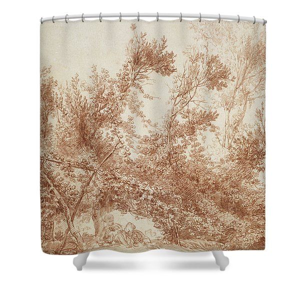 Arbor With Two Children Shower Curtain