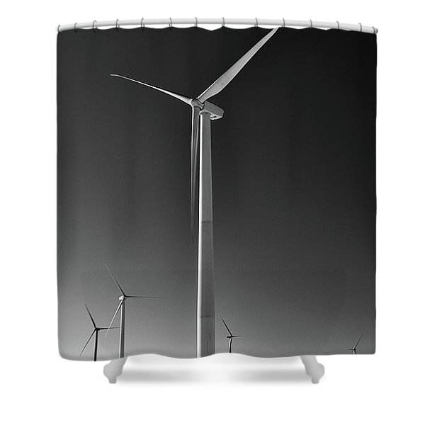 Arcade Wind Turbines 6557 Shower Curtain