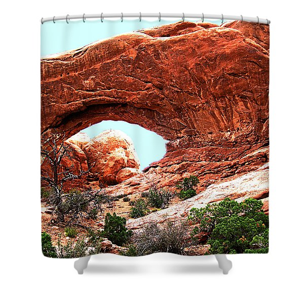 Arch Face Shower Curtain