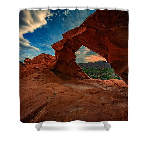 Arch Rock Shower Curtain