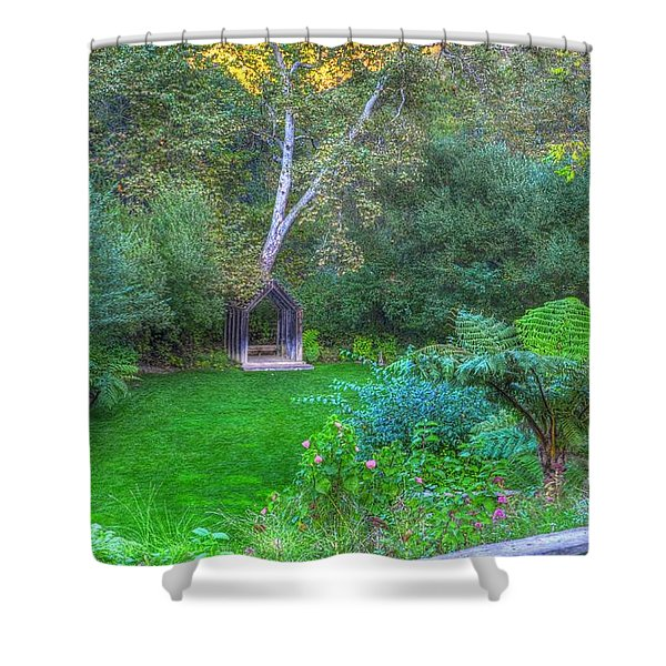 Arch Scene In The Green Shower Curtain